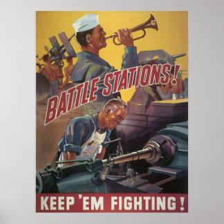 Het Poster van Commandoposten