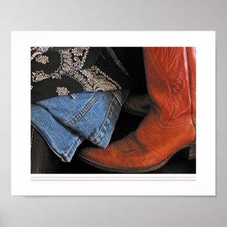 het poster van cowboylaarzen