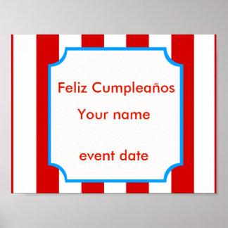 Het poster van Cumpleaños van Feliz - pas aan