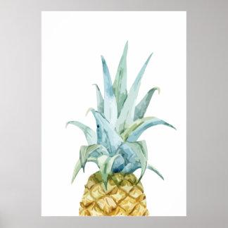 Het Poster van de Ananas van de waterverf