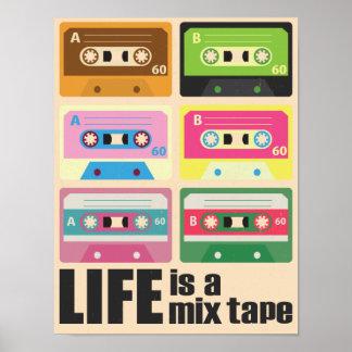 Het Poster van de Band van de Cassette van de Band