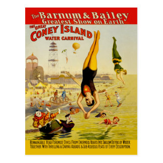 Het Poster van de Bijzaak van Coney Island Briefkaart