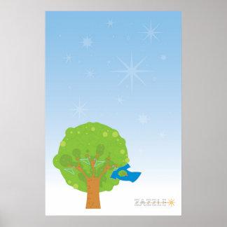 Het Poster van de Boom van Zazzle