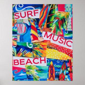 Het Poster van de Collage van het strand & van de