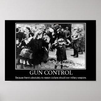 Het Poster van de Controle van het pistool