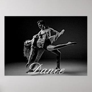 Het Poster van de dans, de Zwart-witte Romantische