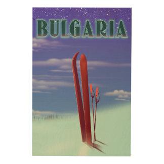 Het poster van de de skireis van Bulgarije