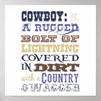 Het Poster van de Definitie van de cowboy