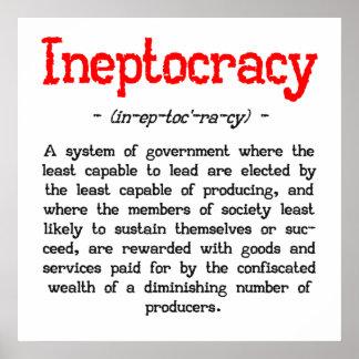 """Het Poster van de Definitie van Ineptocracy (24 """""""