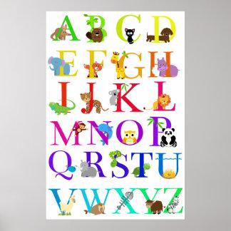 Het Poster van de Dieren van het alfabet