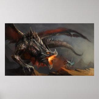 Het Poster van de draak en van de Ridder