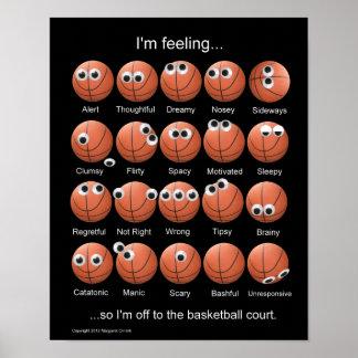 Het Poster van de Emoties van het basketbal