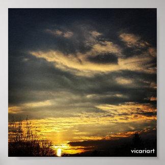 Het Poster van de Foto van de zonsopgang