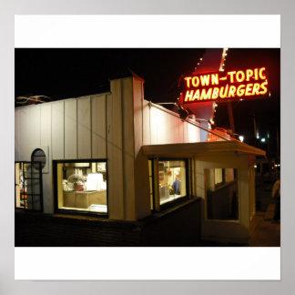 Het Poster van de Hamburgers van het Onderwerp van