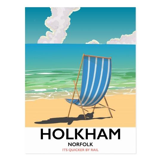 Het poster van de het strandreis van Norfolk van Briefkaart