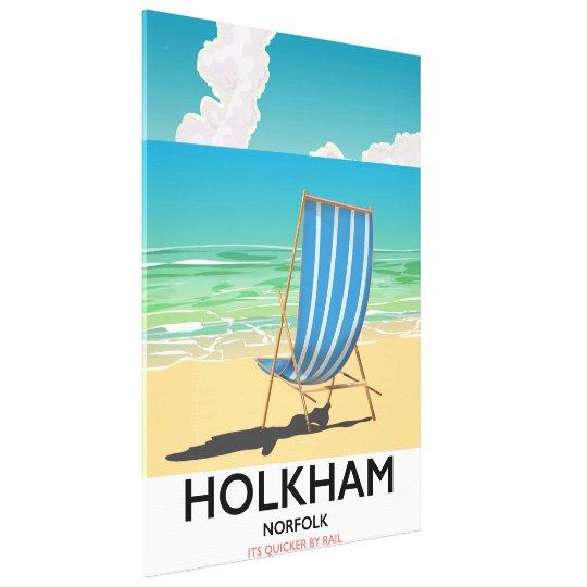 Het poster van de het strandreis van Norfolk van Canvas Afdrukken