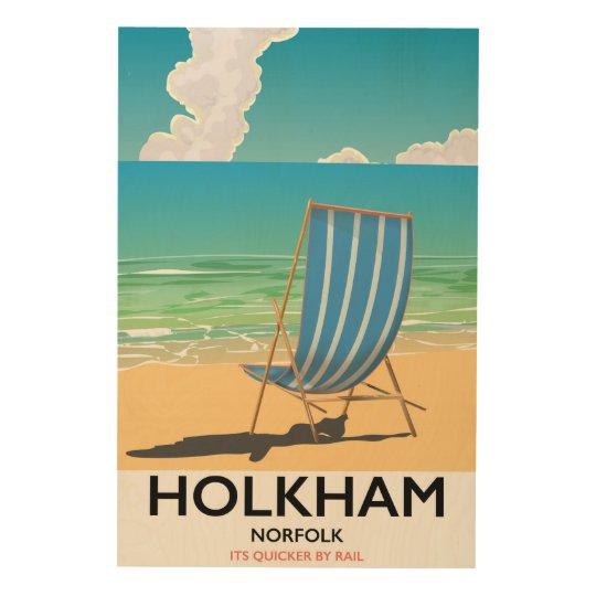 Het poster van de het strandreis van Norfolk van Hout Afdruk