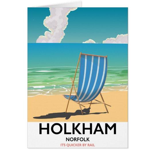 Het poster van de het strandreis van Norfolk van Wenskaart