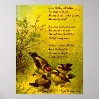 """Het Poster van de """"Hoop"""" van Emily Dickinson"""