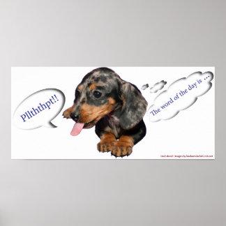 Het Poster van de Houding van het Puppy van de tek