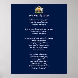 Het Poster van de Hymne van Groot-Brittannië (de