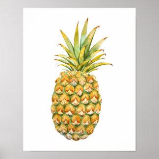 Het Poster van de Illustratie van de ananas