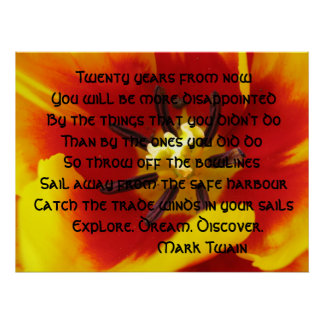 Het Poster van de Inspiratie van de tulp