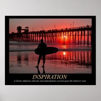 Het Poster van de Inspiratie van de Zonsondergang