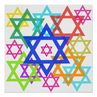 Het poster van de jodenster