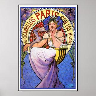 Het Poster van de Jugendstil van Mucha:  Los