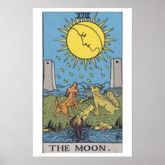 Het poster van de Kaart van het Tarot van de Maan