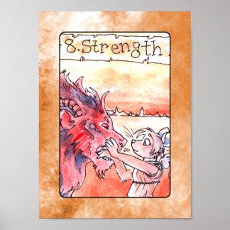 Het Poster van de Kaart van het Tarot van de sterk