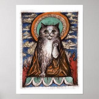 Het Poster van de Kat van Neko van Maneki - de Kat