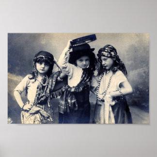 Het Poster van de Kinderen van de zigeuner