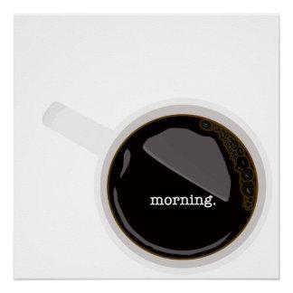 Het Poster van de Koffie van de ochtend