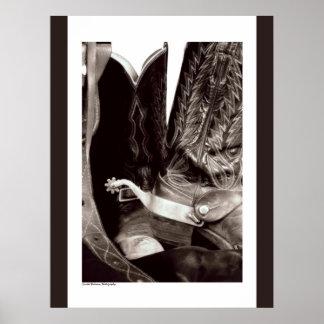 Het Poster van de Laarzen van de cowboy