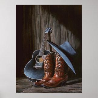"""Het Poster van de """"Laarzen"""" van de Muziek van de p"""