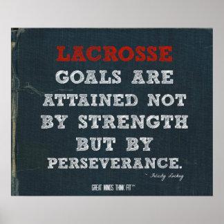 Het Poster van de lacrosse voor Volharding!
