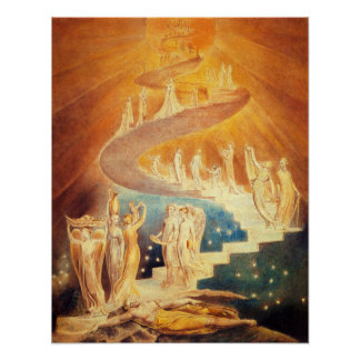 Het Poster van de Ladder van William Blake Jacob's