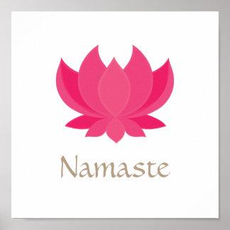 Het Poster van de Meditatie van de Bloem van Lotus