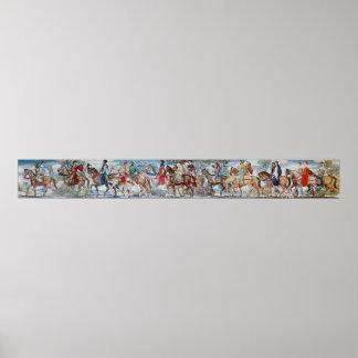Het Poster van de Muurschildering van de Pelgrims