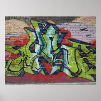 Het Poster van de Muurschildering van Graffiti