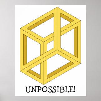 """Het Poster van de Optische illusie """"Unpossible"""""""