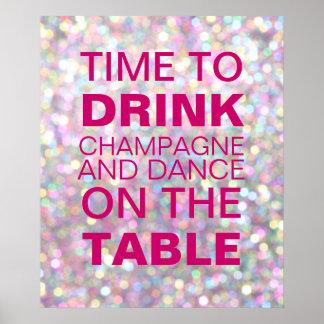 Het Poster van de Partij van Champagne van Sparkly