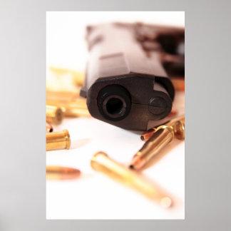 het poster van de pistoolmisdaad