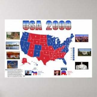 Het Poster van de Presidentiële Verkiezing van de