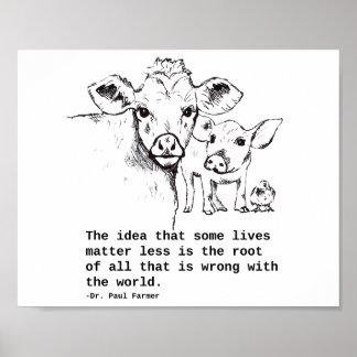Het Poster van de Rechten van dieren