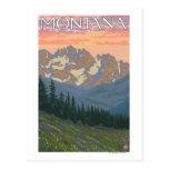 Het Poster van de Reis van FlowersMontanaVintage Briefkaart