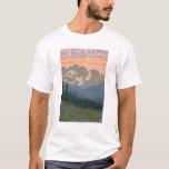 Het Poster van de Reis van FlowersMontanaVintage T Shirt