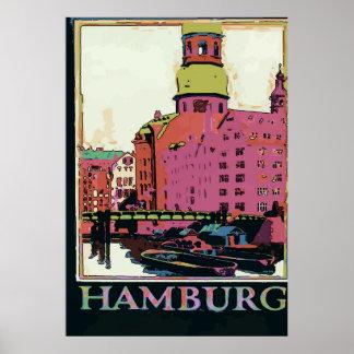 Het Poster van de Reis van Hamburg